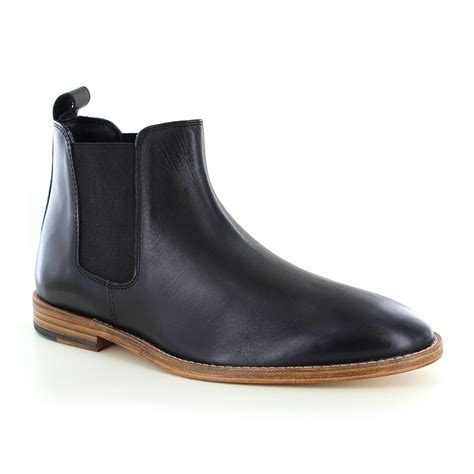black leather chelsea boots paolo vandini portway mens leather chelsea boots black