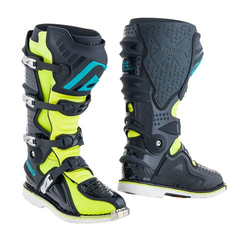 acerbis boots motocross acerbis mx boots x move 2 0 yellow fluo grey 2019 maciag