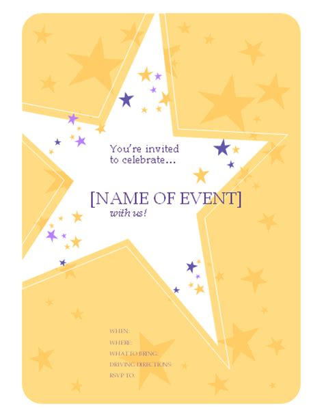 invitation flyer templates free birthday flyer templates