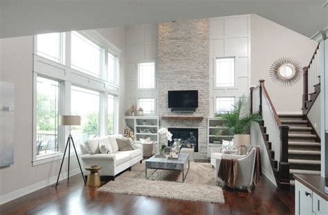 story height great room inspiration  stacked stone