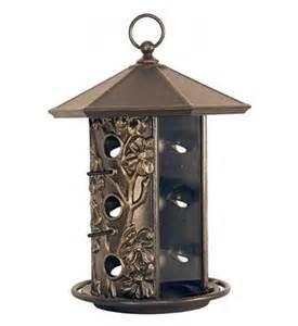 Hanging Bird Feeders Metal Hanging Bird Feeder In Bird Feeders