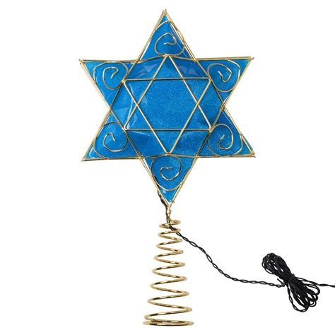 kurt adler 13 in battery operated hanukkah tree topper