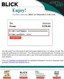 How To Email Gift Cards - gift cards customer service blick art materials