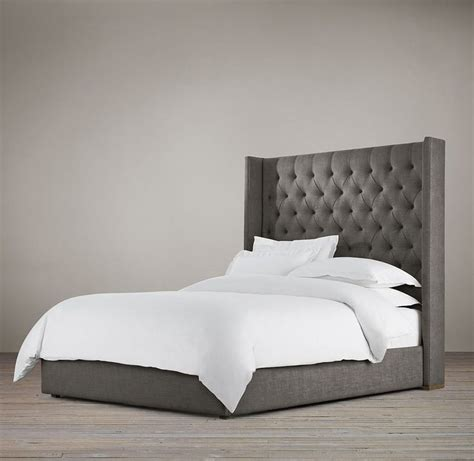 restoration hardware upholstered bed adler tufted platform 68 quot bed upholstered beds restoration hardware my master bedroom pinterest upholstered beds and restoration hardware