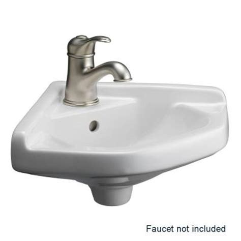 corner bathroom sink home depot barclay products corner wall mounted bathroom sink in