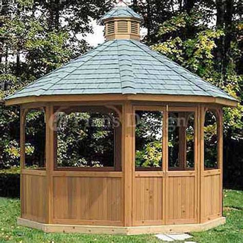 How To Build An Octagon Gazebo by How To Build 12 Octagon Screened Gazebo Plans Material