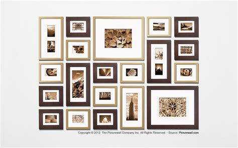 wall gallery template the picture wall template kit decorating ideas