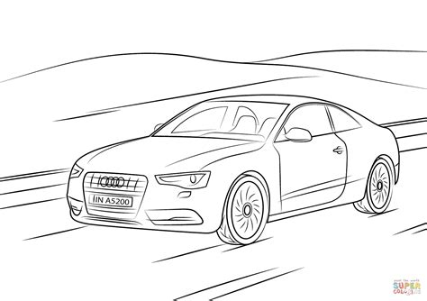 Ausmalbilder Audi by Audi A5 Coloring Page Free Printable Coloring Pages
