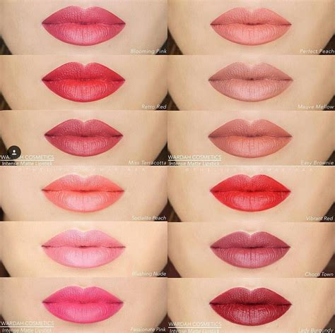 Contoh Warna Lipstik Wardah Lasting lipstik matte wardah the of