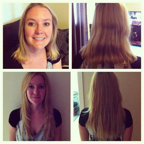 20 hair extensions before and after before after 20 fusion installation indian remy human
