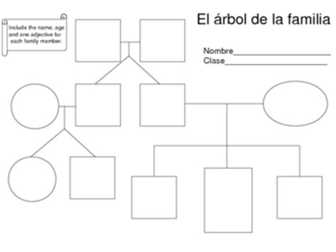 printable family tree in spanish family tree activity worksheets by amanda ewoldt todd tpt