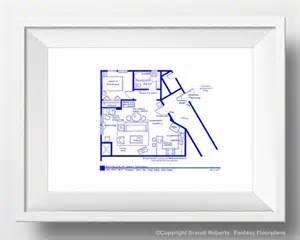 Seinfeld Apartment Floor Plan Seinfeld Apartment Layout Tv Show Floor Plan Blueprint
