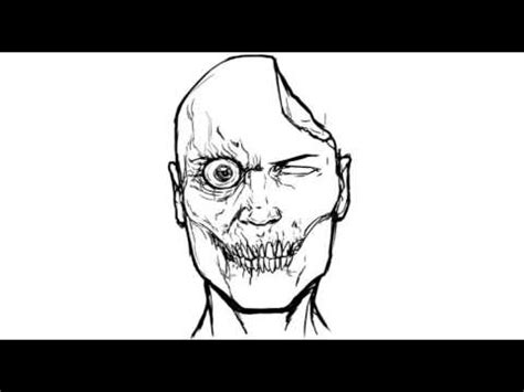 easy zombie tattoo how to draw a zombie easy things to draw youtube