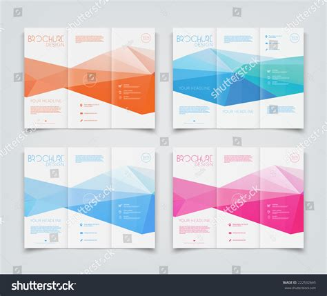 brochure design templates collection layout free vector in vector collection trifold brochure design templates stock