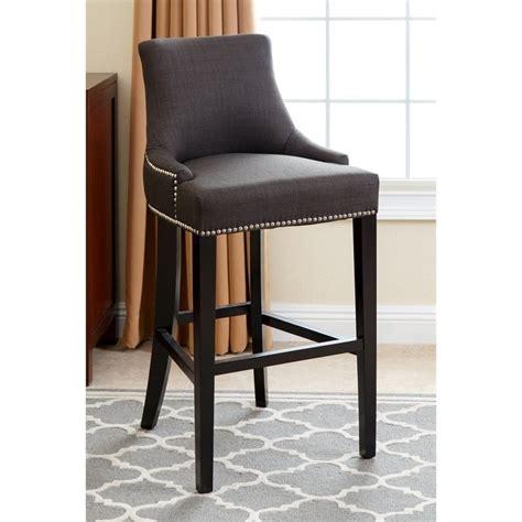 abbyson living hudson 43 quot fabric nailhead bar stool in