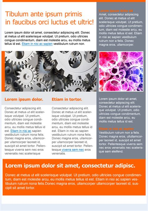 technology newsletter template technology newsletter templates email marketing