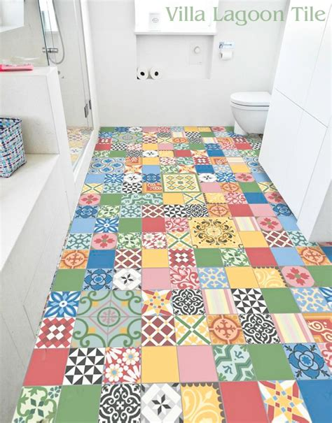 Patchwork Cement Tile - colorful patchwork cement tile in stock villa lagoon tile