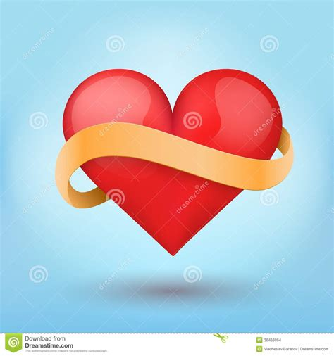 themes of love medicine background beautiful red heart and ribbon vector stock