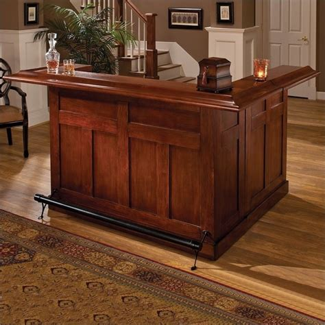 Home Bar Furniture Hillsdale Classic Cherry Large Wrap Around Home Bar