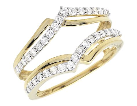 14k yellow gold engagement wedding jacket ring