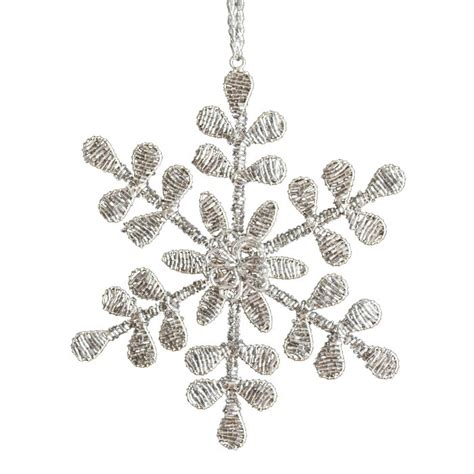 beaded snowflake ornament beaded snowflake ornament decorations