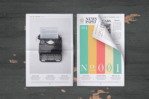 newspaper mockup free psd download download psd