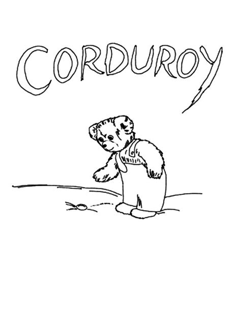 corduroy the bear feeling excited coloring pages batch