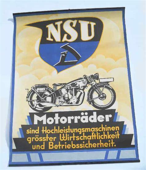 Alte Motorrad Marken Deutschland by Nsu Schilderjagd Alte Emailleschilder Und Blechschilder