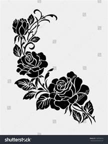 rose motifflower design elements vector stock vector