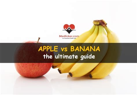Banana Medicinal And Cosmetic Value by Apple Vs Banana The Ultimate Guide