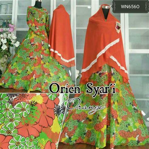 Gamis Humairah Syari Khimar Crepe Motif Bunga Flower Busui Wudhu gamis motif bunga orien syar i