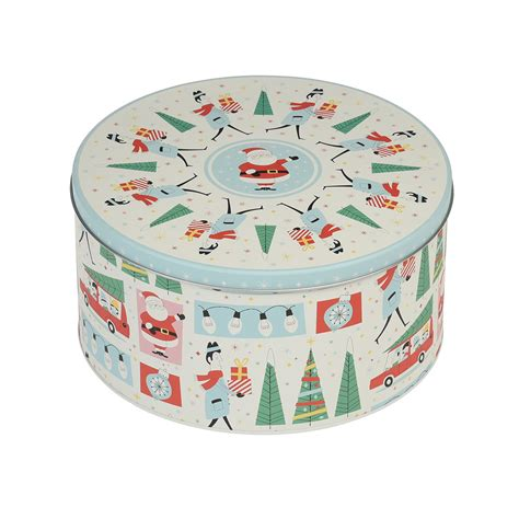 House Warming Gift Ideas festive family christmas round tin dotcomgiftshop