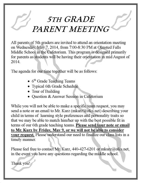 Parent Letter Basketball parent update may 2 2014 olmsted falls schools