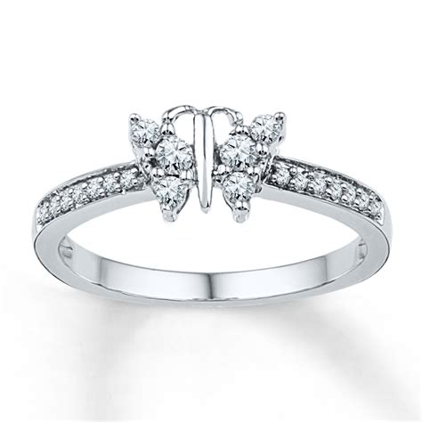 jared butterfly ring 1 4 ct tw cut 10k