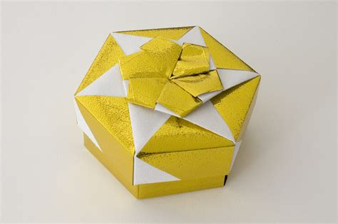 Hexagonal Origami Box - hexagonal origami box with lid 8 9 a photo on flickriver