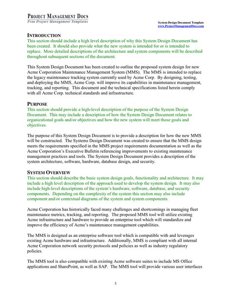 system design document template system design document template in word and pdf formats