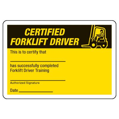 forklift certification card template free certification photo wallet cards certified forklift
