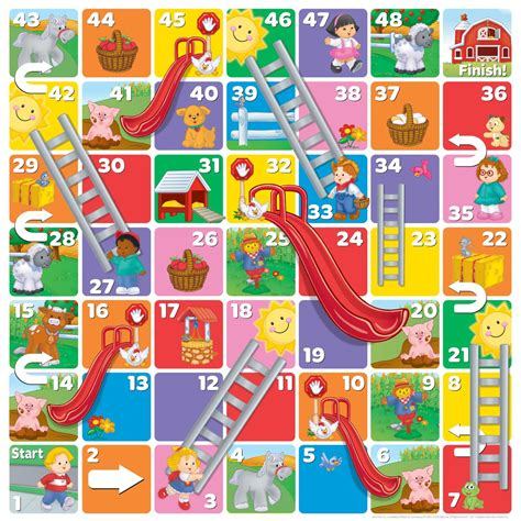 fisher price littlepeople floor snakes and ladders
