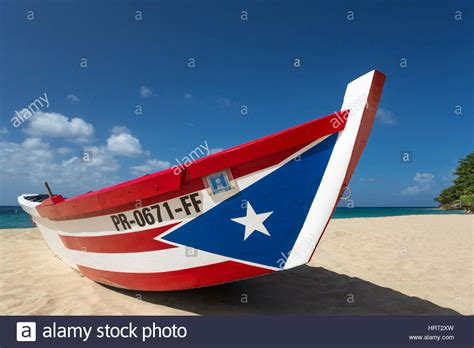 puerto rican flag painted yola fishing boat crash boat - Crash Boat Fishing