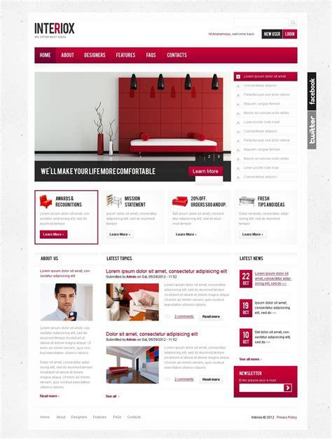 drupal design templates interior design drupal template 37976