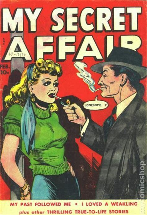 my secret book my secret affair 1949 comic books