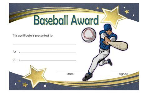 Free Baseball Award Certificate Template Word