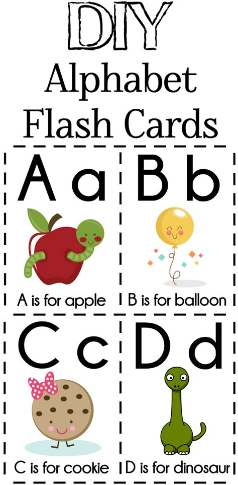 printable alphabet cards with pictures diy alphabet flash cards free printable alphabet flash
