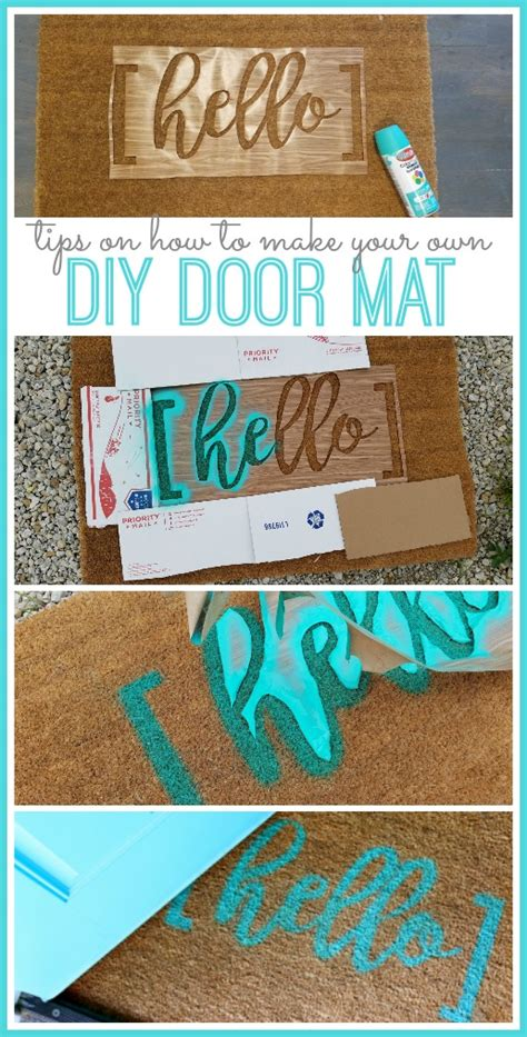 diy mat diy hello door mat sugar bee crafts