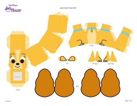 Disney Papercrafts - vriendje muis disney princess