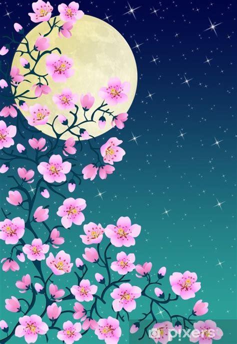 fiore di ciliegio giapponese adesivo giapponese fiori di ciliegio di notte pixers