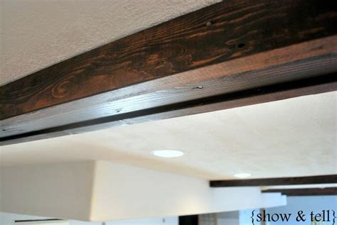 easy diy faux beams ceiling beams