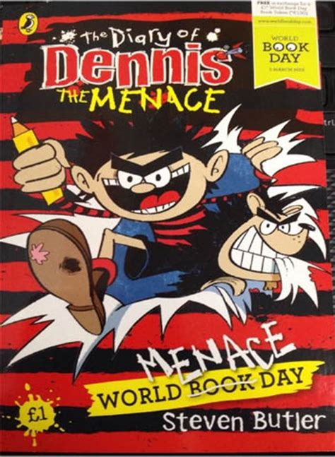 world menace day the diary of dennis the menage world book day by steven butler children books 9780141358697 ebay