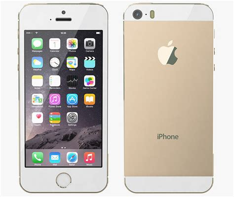 telephone apple iphone 5s gold 3d cgtrader