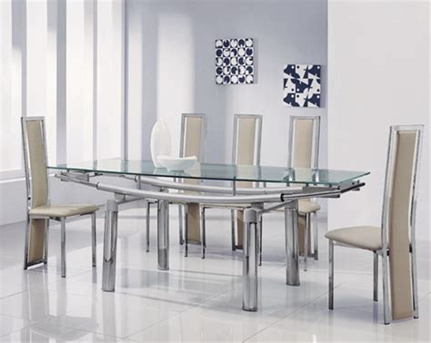 Glass Extending Dining Table Sets Delta Mega Extending Glass Dining Table Glass Dining Table And Chairs